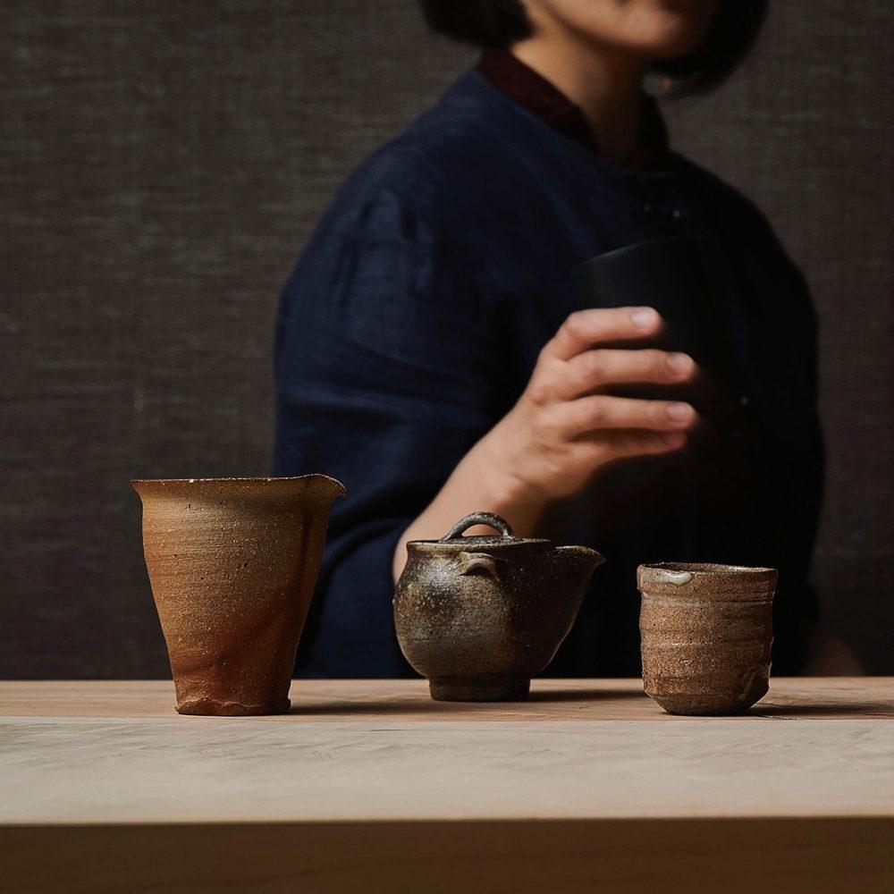"THIS YEAR'S ""NEW TEA"" SHINCHA EXHIBITION  teapots and tea caddies"
